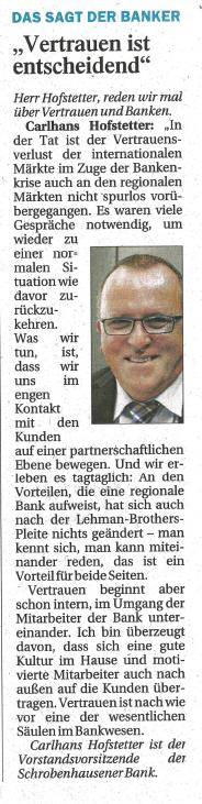 Archiv Presseberichte - Schrobenhausener Bank eG